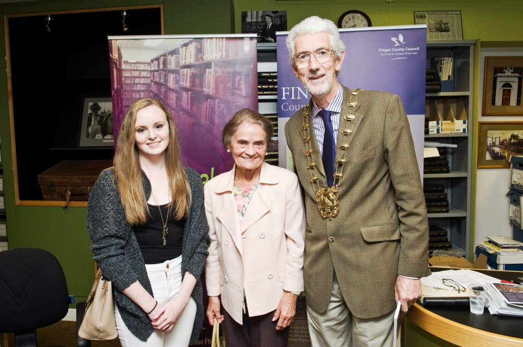 Pictured at the launch of the book Letters from the Trenches by Fingal Co Co Local History Dept is Sine O'Connor, Betty Cronin and Cllr David O'Connor Mayor of Fingal. Photo by Kevin Mcfeely