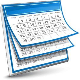 Calendar Dates 2018/19