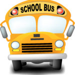 a detailed illustration of a cartoon-like school bus.